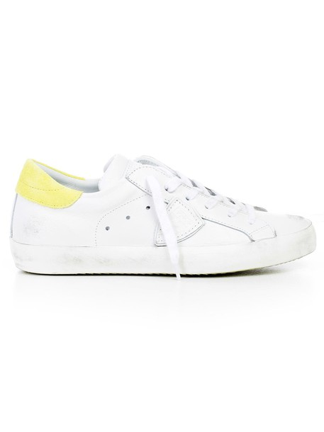 Philippe Model sneakers white yellow shoes