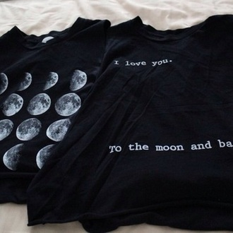 top black moon i love you i love you to the moon and back shirt