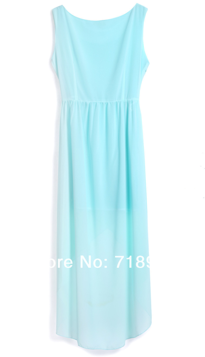 Women chiffon dress, asymetrical dresses,2013 fasion mint green high low Dress, sexy ruffles dress-in Dresses from Apparel & Accessories on Aliexpress.com