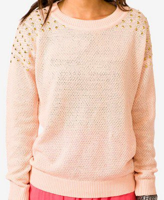 Studded Open Knit Sweater | FOREVER 21 - 2022347770 on Wanelo