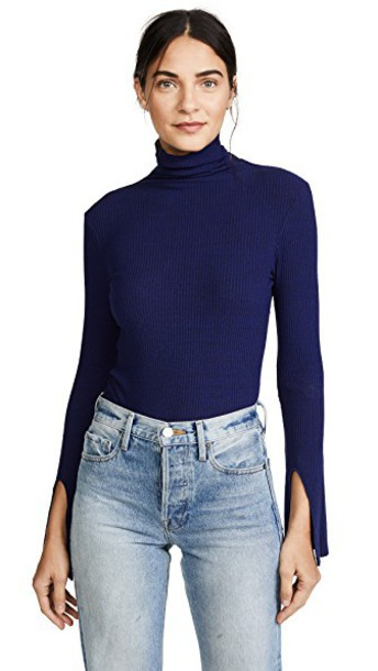 enza costa turtleneck long sweater