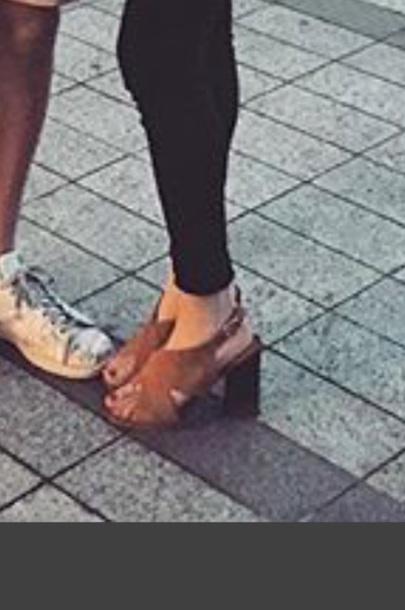 shoes brown heels