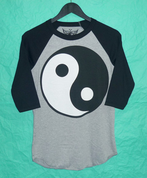 t-shirt yin yang fashion baseball teen t shirt. style awesome style