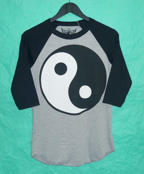 yin yang fashion baseball teenagers t shirt. style t-shirt awesome style shirt