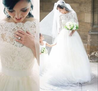 dress long sleeve wedding dress vintage lace wedding dresses arabic wedding dresses 2016 wedding dresses white ivory wedding dresses