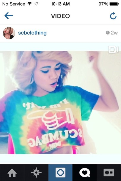 shirt yuleema hair accessories t-shirt rainbow tie dye edit tagsYuleema Imaginee 2014 Blue Hair