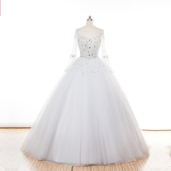 Ballroom Wedding Dresses Said Mhamad 2015 Long Sleeve Wedding ...