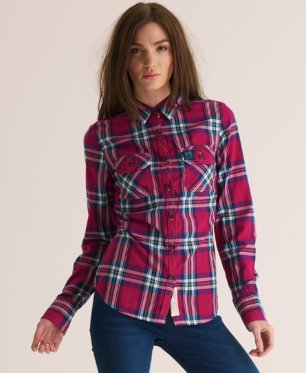 Superdry Lumberjack Patch Shirt - Women's Shirts