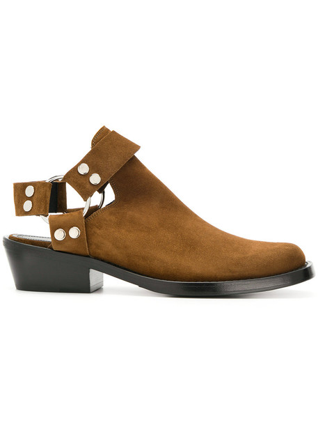 Balenciaga women booties leather suede brown shoes
