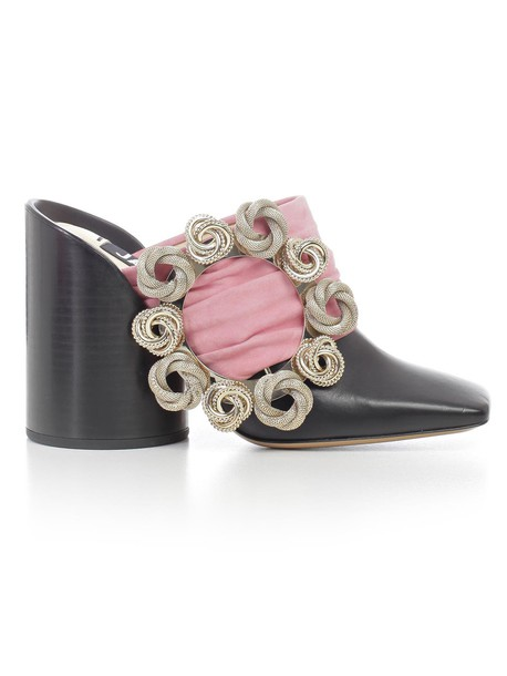shoes black pink