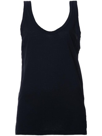 tank top top women cotton black