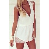 romper,lost souls,summer outfits,summer,white romper,black playsuit,cute outfits,cute playsuit,love