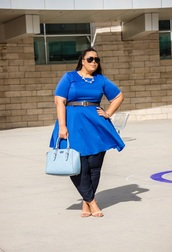 garner style,blogger,dress,bag,shoes,plus size dress,blue dress,plus size,curvy,jeans,plus size jeans,spring outfits