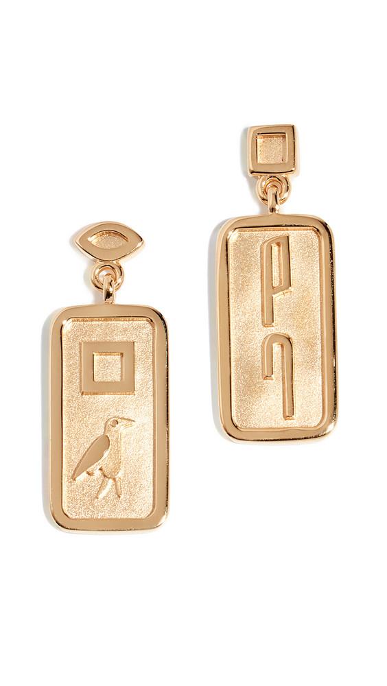 Lucy Folk Le Memphis Earrings in gold / yellow