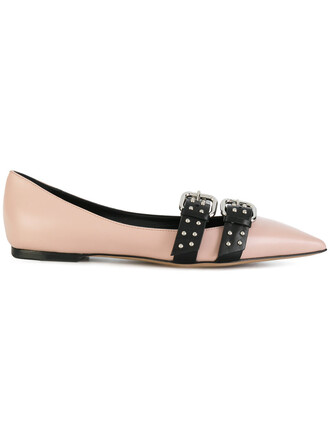 women shoes leather nude
