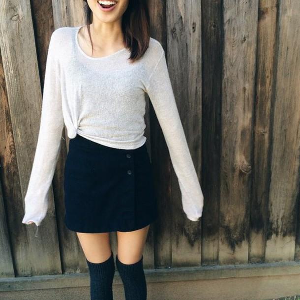skirt black color