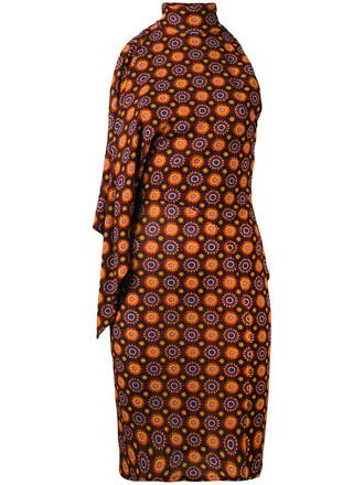 dress print dress women print silk psychedelic