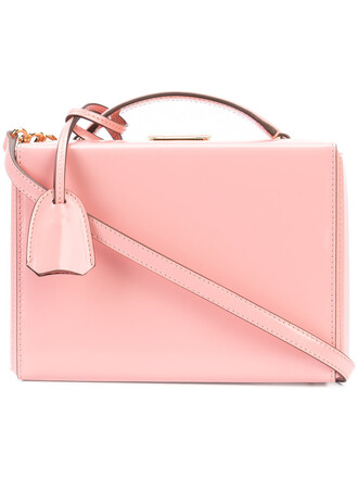 mini women bag shoulder bag leather purple pink