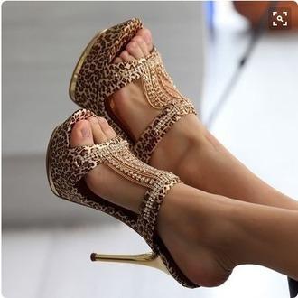 shoes heels formal leopard print