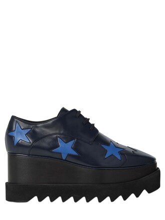 wedges leather wedges leather stars navy shoes