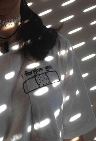 t-shirt white shirt white t-shirt kawaii grunge soft grunge chocker pale
