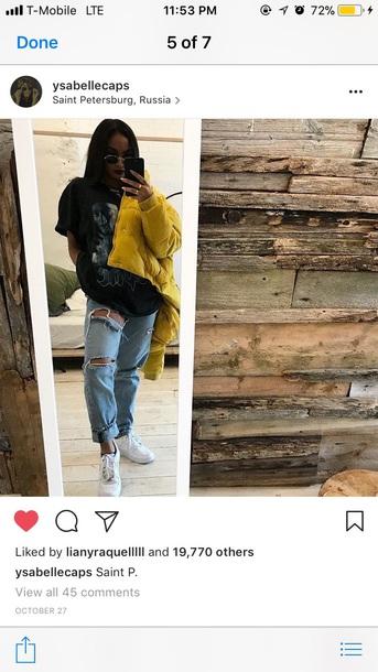 coat yellow puffer jacket
