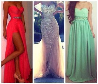 dress party dress prom dress night classy slit dress skinny dress maxi dress glamour brillant green light green red dress wedding dress shoes
