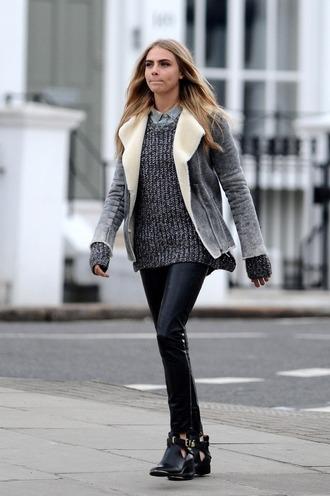 jacket cara delevingne streetstyle shoes