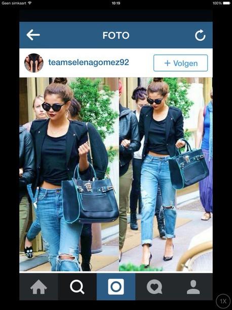 jeans boyfriendjeans ruined jeans denim selena gomez jeans style streetwear