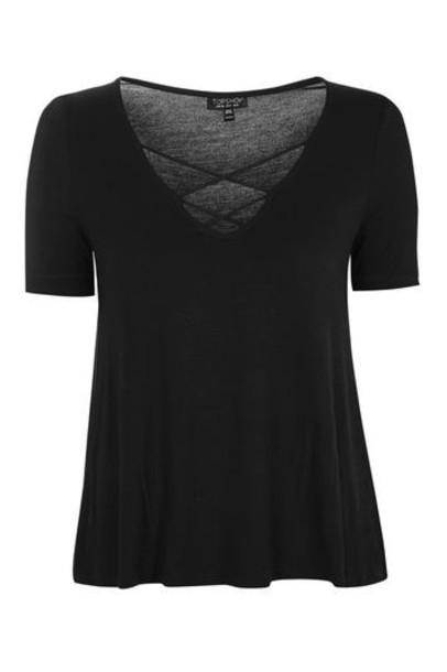 Topshop cross black top