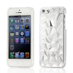 Amazon.com: Clear 3D Abstract Polygon Diamond Crystal Texture Hard PC Back Case Cover For iPhone 5: Cell Phones & Accessories