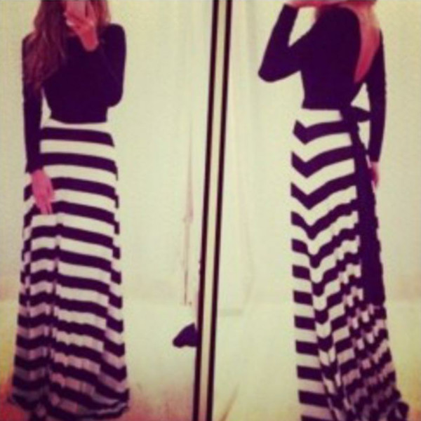 black and white dress maxi dress