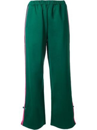 pants track pants joggers green pants