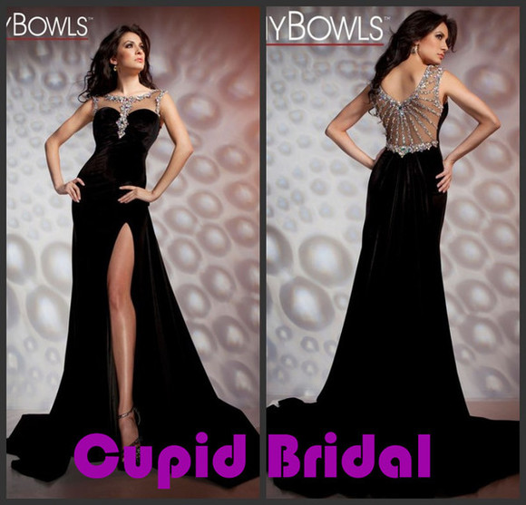 dress evening dress tony bowls side split dress mermaid evening dress prom gown