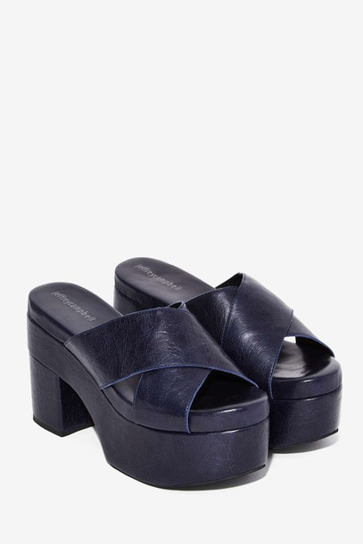 shoes want need jeffrey campbell platform sandals mid heel sandals platform shoes thick heel leather shoes mules