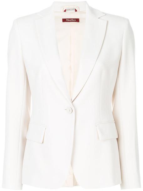 Max Mara Studio blazer women classic nude jacket