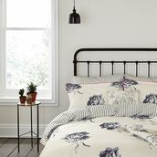 home accessory,bedding,double duvet,floral,bedroom,blue bedding,white bedding,flowers,joules,white floral bedding