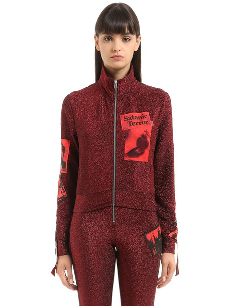 DILARA FINDIKOGLU Lvr Editions Lurex Track Jacket in red