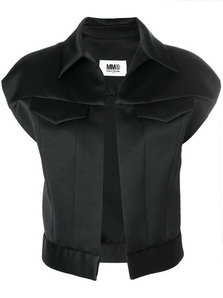 Mm6 Maison Margiela shirt open women black top