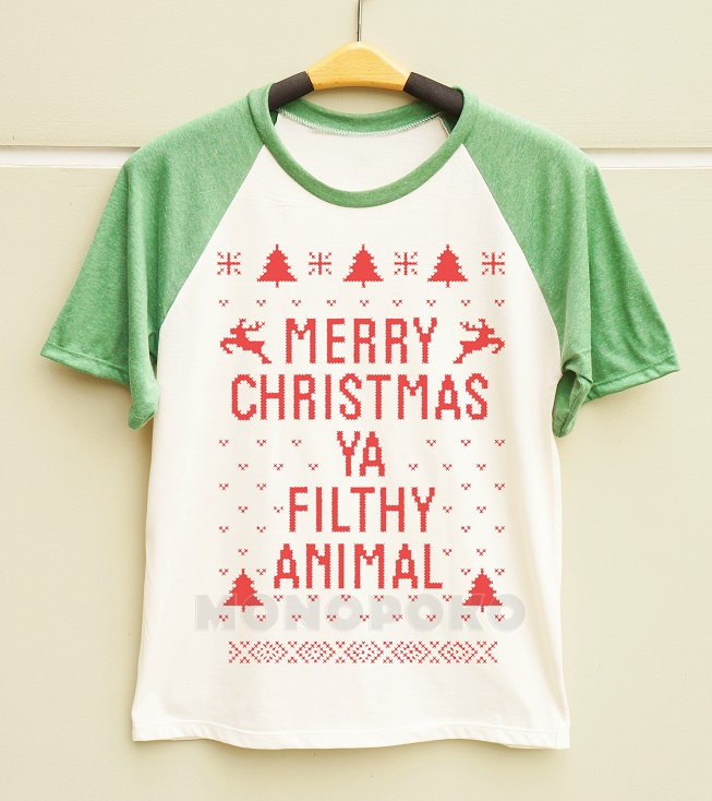 S M L Merry Christmas Ya Filthy Animal Shirt Christmas