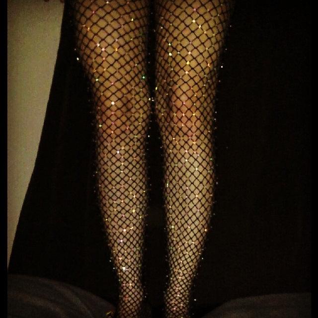 63c5c41d249bf Sexy Crystallized Crystal Diamond Fishnet Tights Stockings Hosiery ...