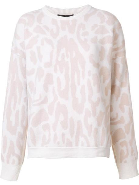 Baja East jumper women print purple pink leopard print sweater