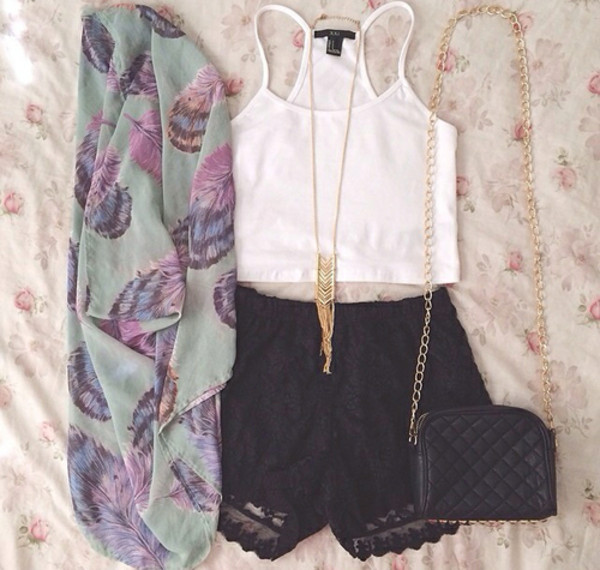 shorts scarf jacket perfection t-shirt blouse