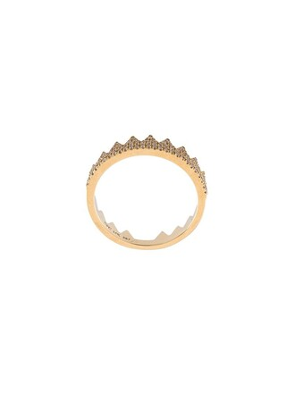 crown ring embellished ring yellow orange jewels