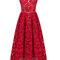 Elegant women strap lace crochet solid v neck a-line party dress online - newchic