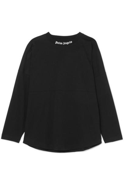Palm Angels top oversized cotton black
