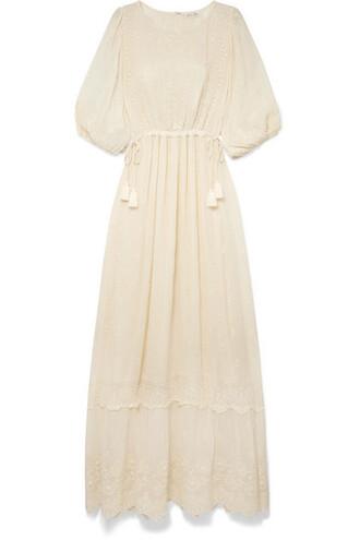 dress maxi dress maxi embroidered cream