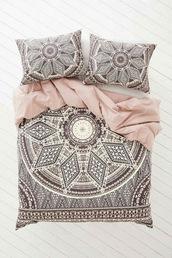 home accessory,boho bedding,bedding,boho,geometric,mandala