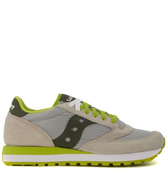 Saucony light suede grey shoes