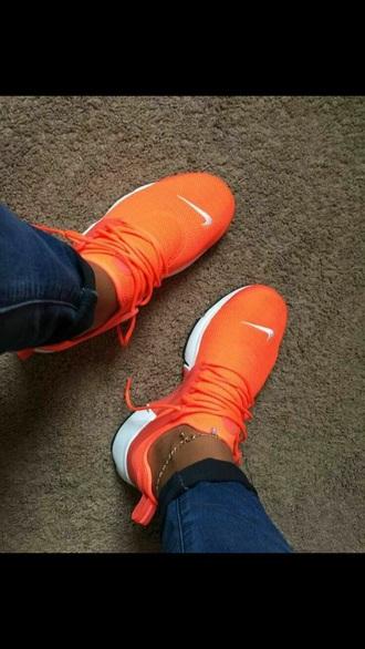shoes orange nike shoes